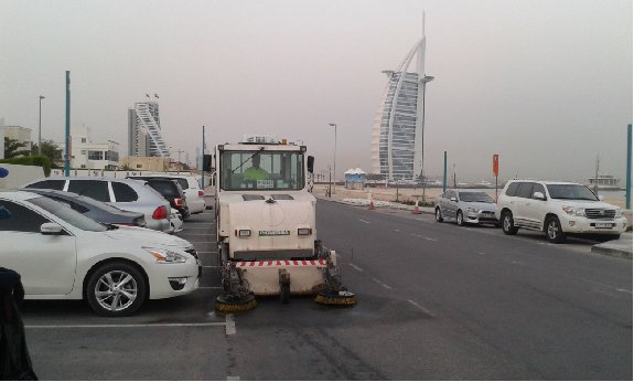 Piquersa Street sweeper BA-2000H at Jumeirah road, Dubai, UAE.